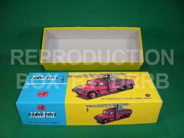 Corgi. #1121 Chipperfield's Circus Crane Truck - Reproduction Box